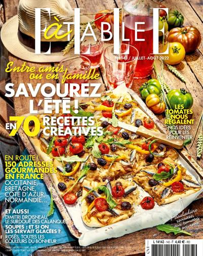 Abonnement magazine ELLE à table
