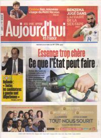 Aujourd'hui en France N° 211020