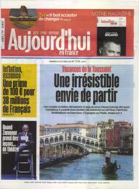 Aujourd'hui en France N° 211022