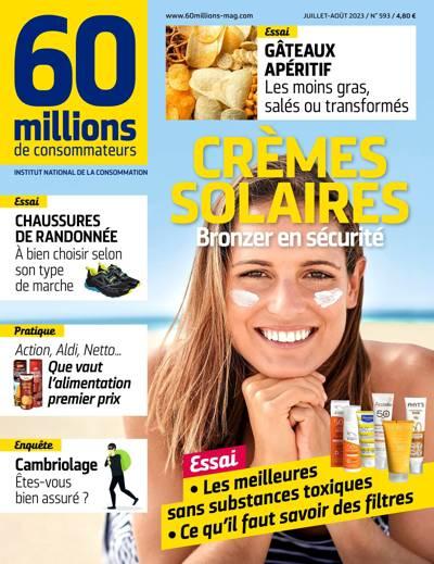 Abonnement 60 MILLIONS DE CONSOMMATEURS