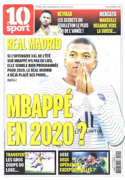 Abonnement Le 10 Sport - Edition Nationale