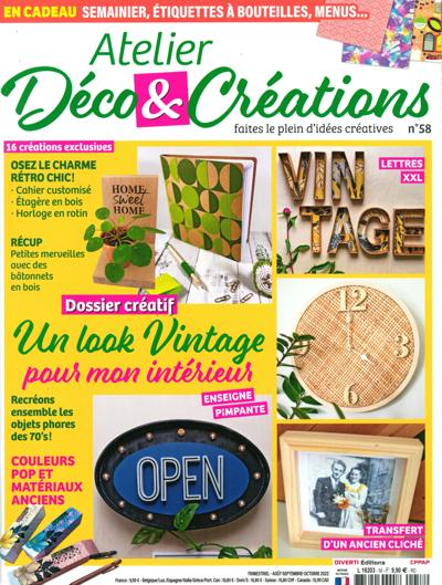 Abonnement ATELIER DECO & CREATIONS
