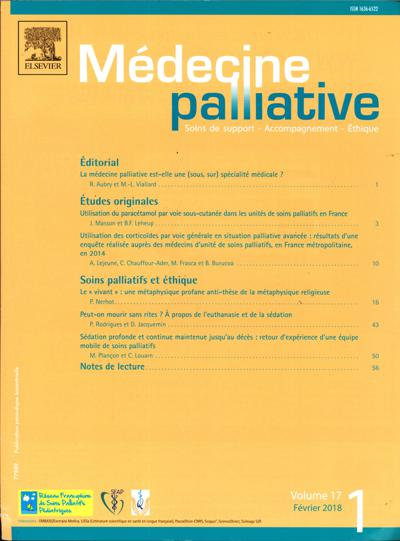 Médecine Palliative - N°202001