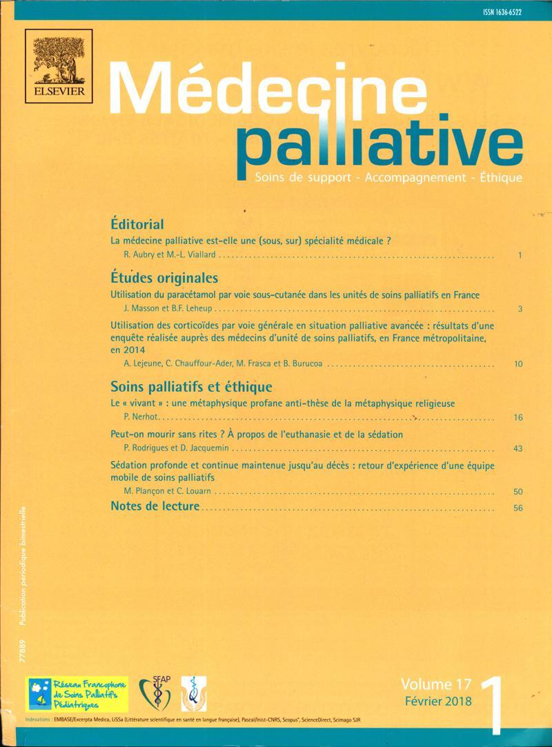 Médecine Palliative