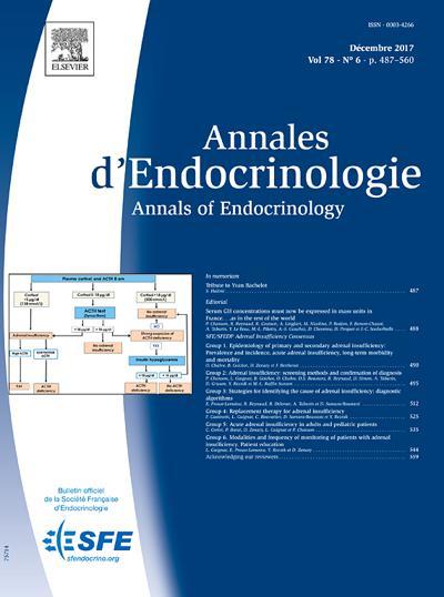 Annales D'Endocrinologie - N°778