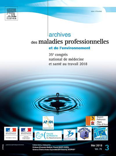 Abonnement magazine Archives Des Maladies Professionnelles Et De L'Environnement