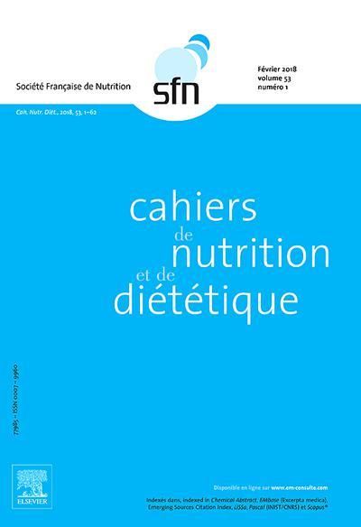 Cahiers De Nutrition Et De Diététique - N°201906