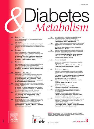 Diabetes & Metabolism - N°427