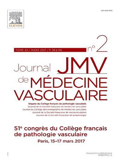 JMV Journal de Médecine Vasculaire - N°201903