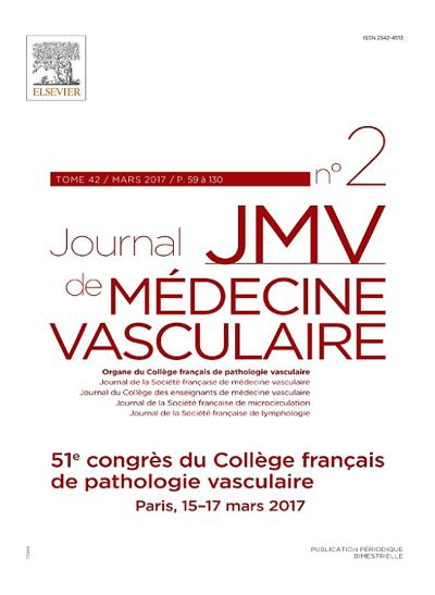 JMV Journal de Médecine Vasculaire (photo)
