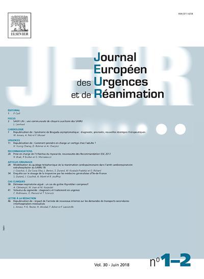 Journal Européen Des Urgences - N°201903