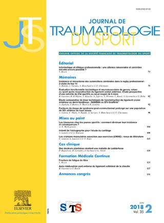 Journal De Traumatologie Du Sport