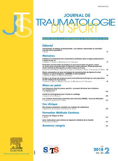 Journal De Traumatologie Du Sport (photo)