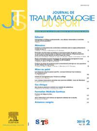 Journal De Traumatologie Du Sport N° 319