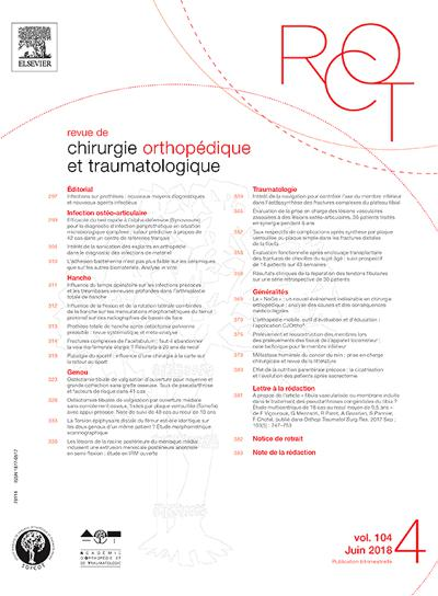 Abonnement magazine Revue De Chirurgie Orthopedique