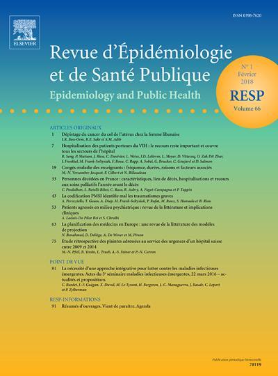 Revue D'Epidemiologie (photo)