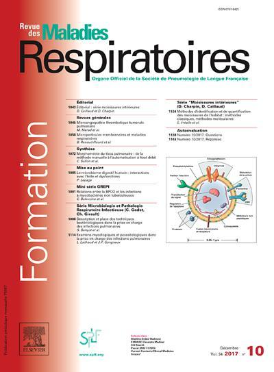 Abonnement Revue Des Maladies Respiratoires
