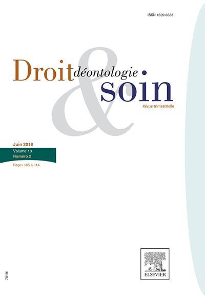 Droit Deontologie & Soin (photo)