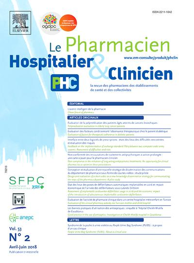Le Pharmacien Hospitalier et Clinicien (photo)