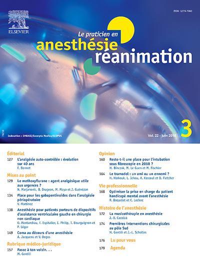 Abonnement magazine Le Praticien En Anesthesie Reanimation