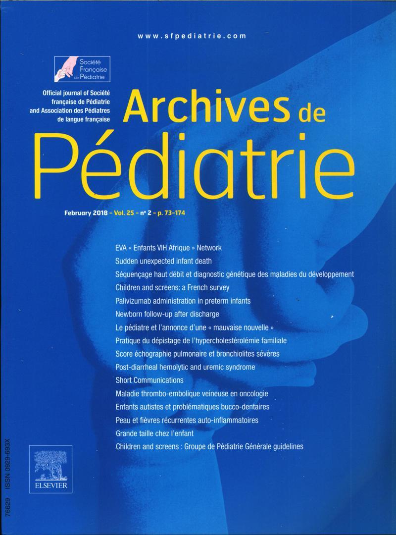 Archives De Pediatrie