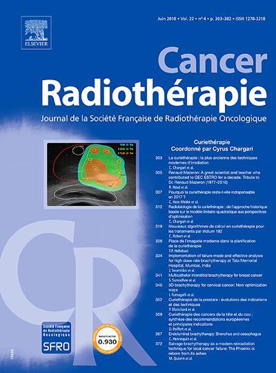 Cancer Radiotherapie - N°201906