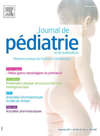 Abonnement JOURNAL DE PEDIATRIE ET DE PUERICULTURE