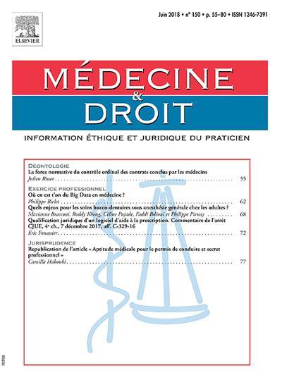 Médecine et Droit - N°201906