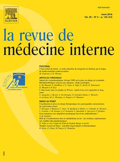 Abonnement magazine La Revue De Médecine Interne