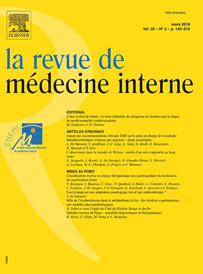 La Revue De Médecine Interne (photo)