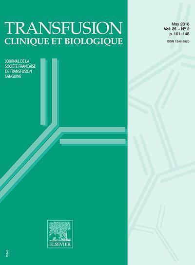 Transfusion Clinique Et Biologique (photo)