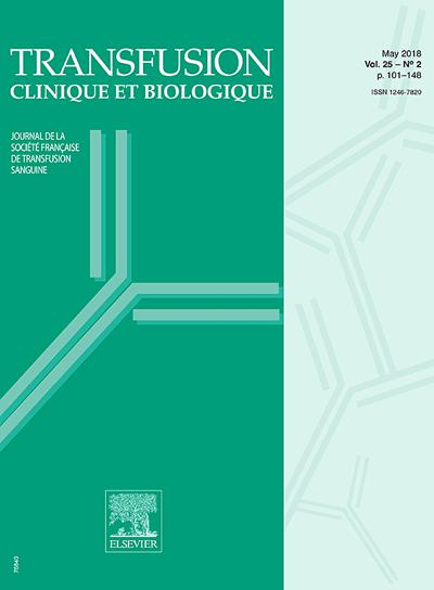 Transfusion Clinique Et Biologique (photo)