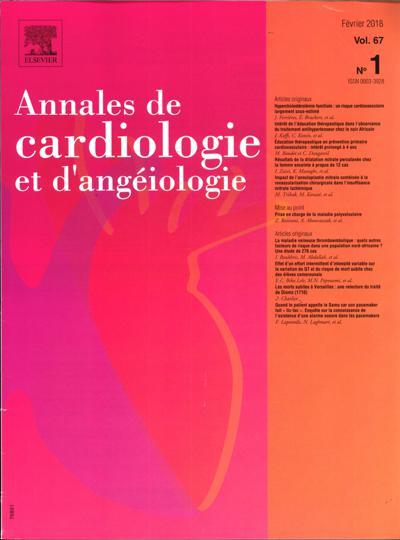 Annales De Cardiologie Et D Angeiologie - N°29