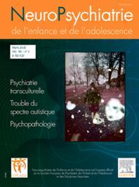 Neuropsychiatrie De L Enfance Et De L Adolescence