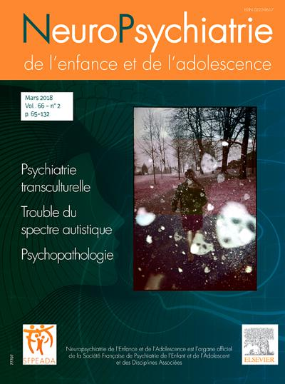 Neuropsychiatrie De L Enfance Et De L Adolescence (photo)