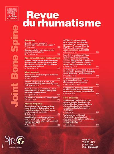 Revue Du Rhumatisme - N°201904