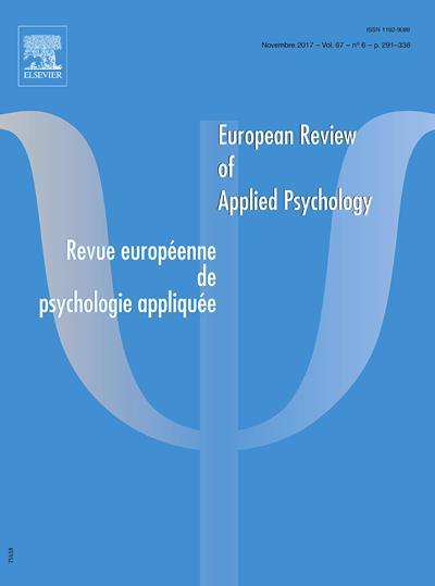 Revue Europeenne De Psychologie Appliquee - N°201905