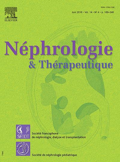 Nephrologie Et Therapeutique - N°201906