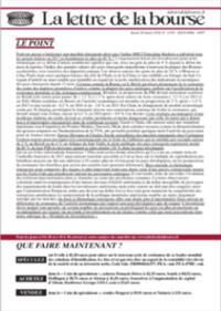 La Lettre De La Bourse