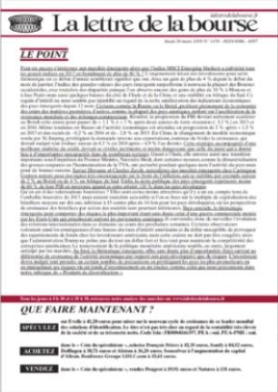 La Lettre De La Bourse (photo)