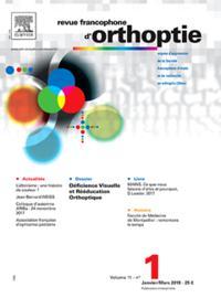 Revue Francophone d'Orthoptie