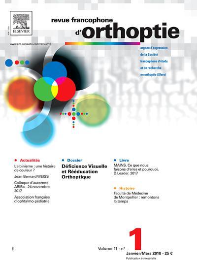 Abonnement magazine Revue Francophone d'Orthoptie
