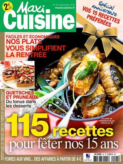 Abonnement Maxi cuisine Offre Gourmande