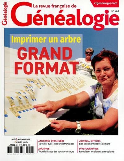 Abonnement La Revue française de Généalogie