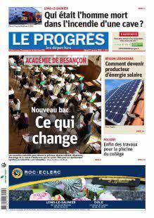 Le Progrès-Ed. Lons, Champagnole, Haut Jura - N°201125