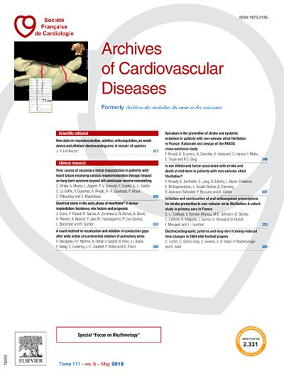 Abonnement magazine Archives of cardiovascular diseases