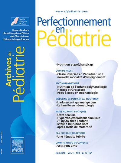 Abonnement magazine Perfectionnement en pédiatrie