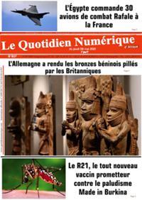Quotidien numérique d'Afrique N° 210506