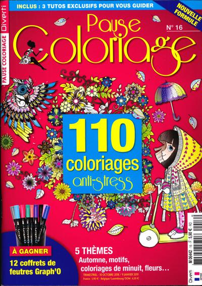Coloriage Anti Stress Magazine.Pause Coloriage Abonnement Magazine Pause Coloriage