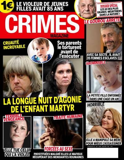 Abonnement Crimes magazine